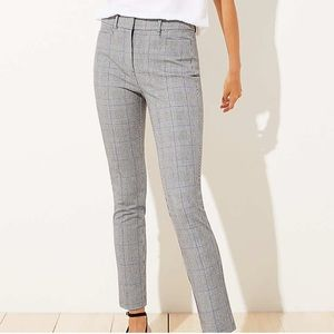 Petite Plaid High Waist Skinny Ankle Pants
